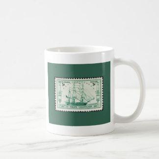 US Stamp ~ USS Constituion ~ October 21, 1947 Classic White Coffee Mug