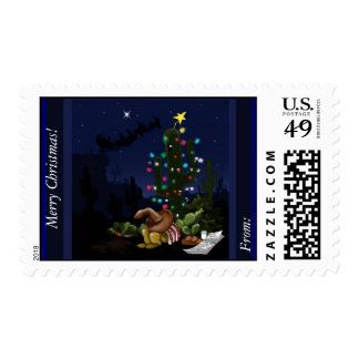 US Stamp with southwestern Christmas cartoon