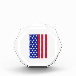 US stars and stripes flag Acrylic Award