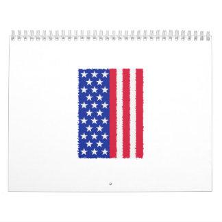 US stars and stripes flag Calendar