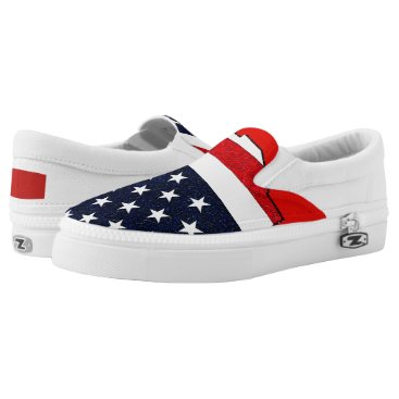 USA Themed US Stars Slip-On Sneakers