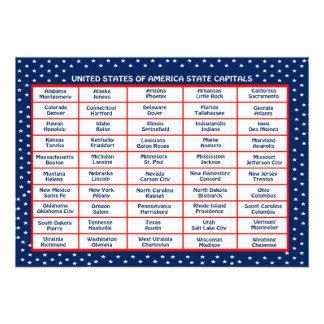 US State Capitals Card Custom Invitation