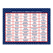 US State capitals Postcard