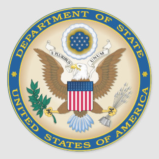 US State Department Classic Round Sticker