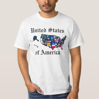 US State Flags Map T-Shirt