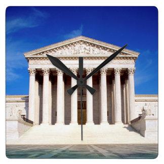 US Supreme Court building, Washington DC, USA Square Wall Clock