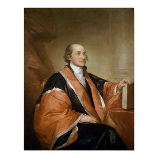 US Supreme Court Justice John Jay by Gill Stuart Print