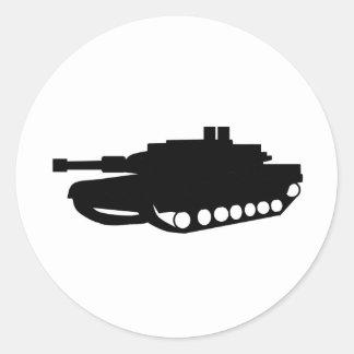 us tank classic round sticker