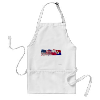 US, Texas and Dallas Flags Aprons