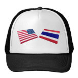 US & Thailand Flags Hat