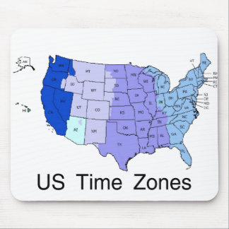US Time Zones Mouse Pads