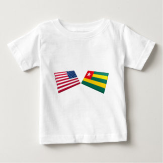 US & Togo Flags Baby T-Shirt