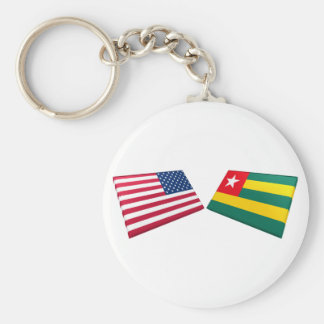 US & Togo Flags Keychains