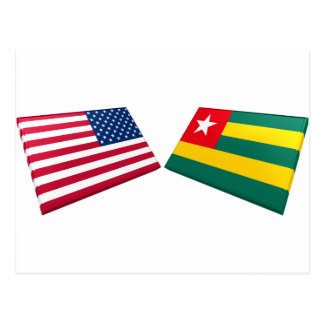 US Togo Flags Postcards