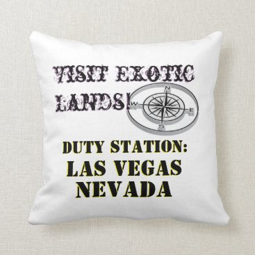 US Tour City Las Vegas Nevada Tour Throw Pillow