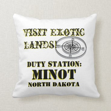US Tour City Minot ND Throw Pillow