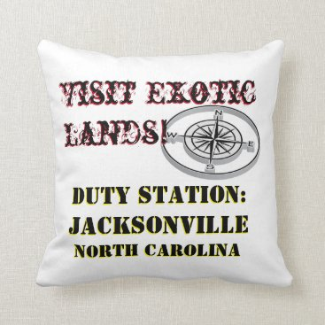 US Tour Jacksonville NC Duty Station Throw Pillow