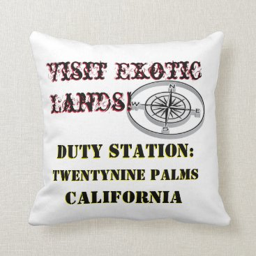 US Tour Twentynine Palms CA Tour Throw Pillow