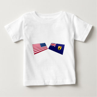 US & Turks and Caicos Islands Flags Baby T-Shirt