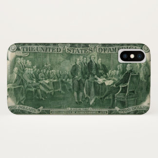 US Two Dollar Bill iPhone X Case