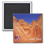 US - U.S.A. - Arizona - Coyote Buttes 2 Inch Square Magnet