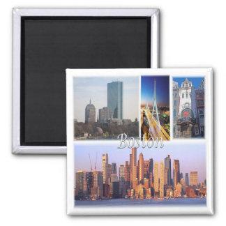 US * U.S.A. - Boston Massachusetts Usa 2 Inch Square Magnet