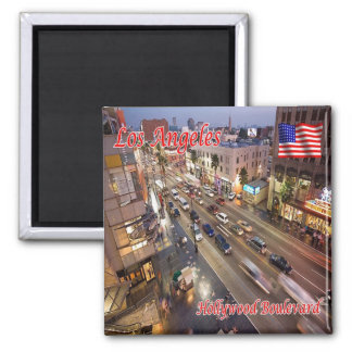 US U.S.A. Los Angeles Hollywood Boulevard Magnet