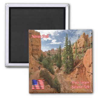 US U.S.A. National Park Bryce Canyon Navaio Trail 2 Inch Square Magnet