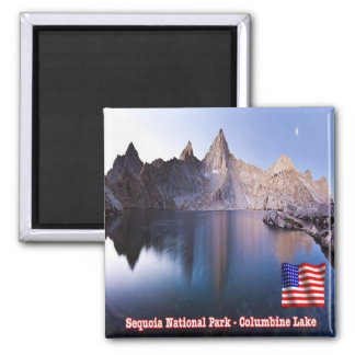 US U.S.A. National Park Sequoia - Columbine Lake Magnet