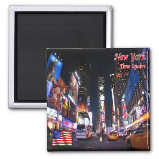 US U.S.A. - New York City - Time Square by Night Magnet
