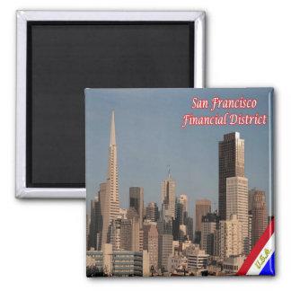 US U.S.A. San Francisco Alamo Square Financial Magnet