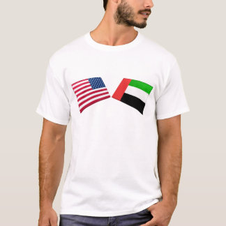 US & United Arab Emirates Flags T-Shirt