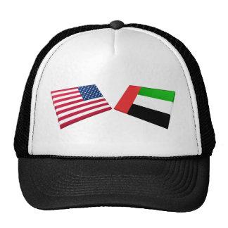 US & United Arab Emirates Flags Trucker Hat