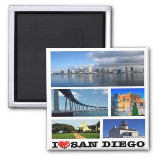 US - United States of America - San Diego - I Love Magnet