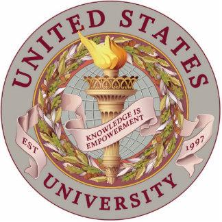 US University Logo Sculpture