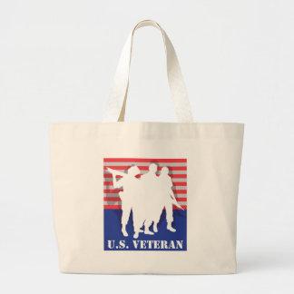 US Veteran Large Tote Bag