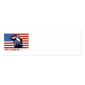 US Veterans Day Remembrance Greeting Card Business Card Template