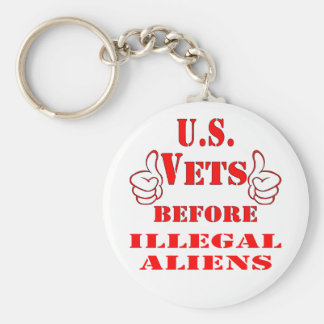 US Vets Before Illegal Aliens Keychain