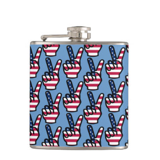 US Victory Sign Hip Flask