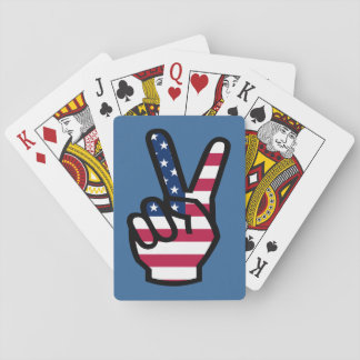 US Victory Sign Poker Cards