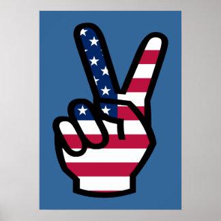 US Victory Sign Print