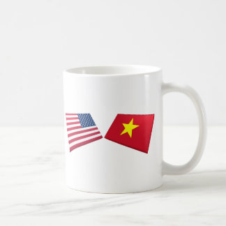 US & Vietnam Flag (North Vietnam) Coffee Mug