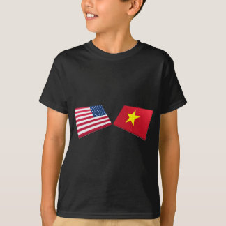 US & Vietnam Flag (North Vietnam) T-Shirt