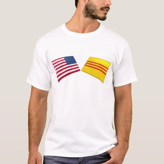 US & Vietnam Flags (South Vietnam) T-Shirt