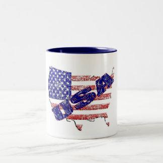 US Vintage Two-Tone Coffee Mug