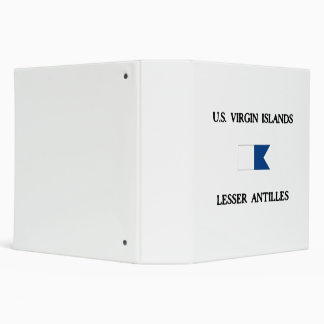 US Virgin Islands Alpha Dive Flag Vinyl Binder