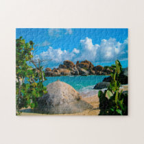 US Virgin Islands Coastal Scene. Jigsaw Puzzle