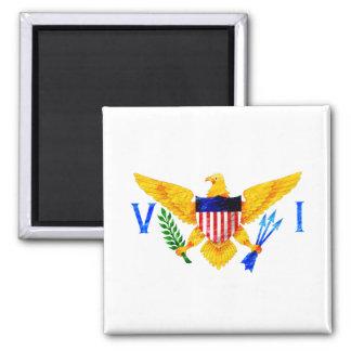US VIRGIN ISLANDS FLAG 2 INCH SQUARE MAGNET
