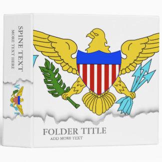 US Virgin Islands flag 3 Ring Binder