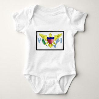 US Virgin Islands Flag Baby Bodysuit